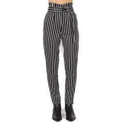 Calvin Klein Jeans Striped Twill Pants With Belt found on MODAPINS from Italist for USD $152.63
