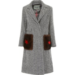 Ava Adore Chevron Coat With Mink Fur found on MODAPINS from Italist Inc. AU/ASIA-PACIFIC for USD $790.13
