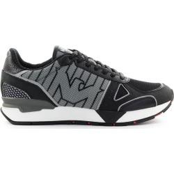 Emporio Armani Black Nubuk Mesh Sneaker found on Bargain Bro UK from Italist
