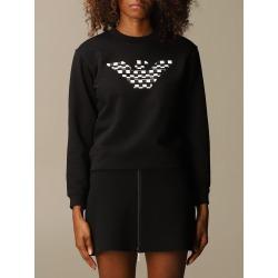 Emporio Armani Sweatshirt Emporio Armani Cotton Sweatshirt With Checkered Logo found on Bargain Bro UK from Italist