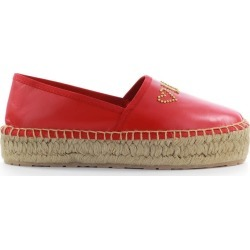 Love Moschino Red Leather Espadrilles found on MODAPINS from Italist for USD $211.62