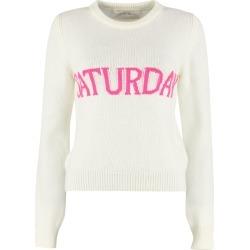 Alberta Ferretti saturday Intarsia Rainbow Week Sweater