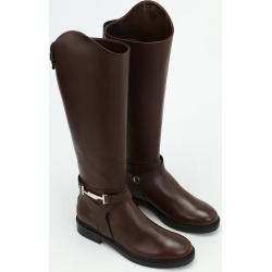 Tods Double T Brown Leather Boots found on Bargain Bro Philippines from Italist Inc. AU/ASIA-PACIFIC for $1097.43