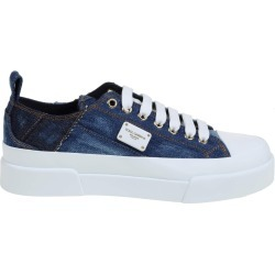 Dolce & Gabbana Portofino Light Sneakers In Patchwork Denim And Leather found on Bargain Bro UK from Italist