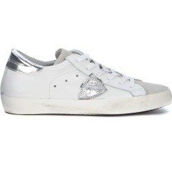 Sneaker Philippe Model Model Paris In White And Silver Leather found on Bargain Bro Philippines from Italist Inc. AU/ASIA-PACIFIC for $388.93