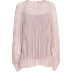 Blumarine Pleated Shirt L/s Crew Neck found on MODAPINS from Italist for USD $815.70