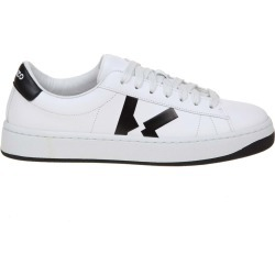 Kenzo Sneakers Kourt Lace Up In White Leather found on MODAPINS from Italist for USD $375.99