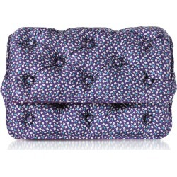 Benedetta Bruzziches Turtles Printed Violet Satin Silk Carmen Shoulder Bag found on MODAPINS from italist.com us for USD $715.95