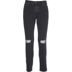 MSGM Black Denim With Logo And Rips found on Bargain Bro UK from Italist