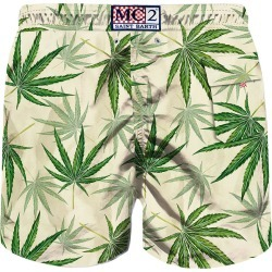 MC2 Saint Barth Green Leaves All Over Print Swim Shorts found on Bargain Bro from italist.com us for USD $103.25
