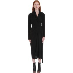 Rick Owens Wrap Ls Dress Dress In Black Silk found on Bargain Bro UK from Italist