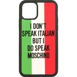 Moschino Iphone 11 Pro Italian Slogan Cover found on Bargain Bro Philippines from italist.com us for $87.09