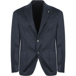 Lardini Blue Cotton And Wool Blend Blazer found on MODAPINS from Italist for USD $714.61