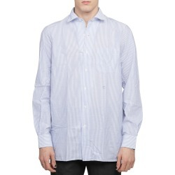 Massimo Alba Blue Bowles Shirt found on MODAPINS from italist.com us for USD $243.40