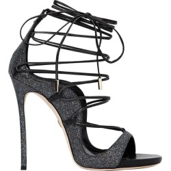 Dsquared2 Riri Black Glitter Heeled Sandal found on Bargain Bro from Italist for £650