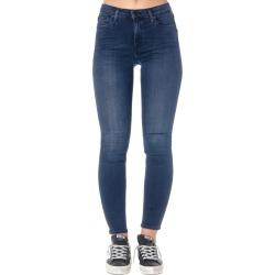 Calvin Klein Dark Blue Cotton-blend Skinny Fit Jeans found on Bargain Bro UK from Italist