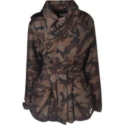 Miu Miu Camo Print Wrapped Effect Jacket found on Bargain Bro Philippines from Italist Inc. AU/ASIA-PACIFIC for $1980.14