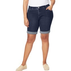 Just My Size JMS Cuffed Boyfriend Shorts Super Dark 18W found on Bargain Bro Philippines from JustMySize for $24.00