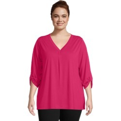 Just My Size JMS Lightweight Rolled Sleeve Top Strawberry Rouge 4X Women's found on Bargain Bro from JustMySize for USD $13.68