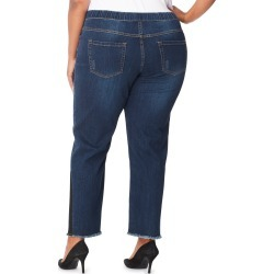 Just My Size JMS 4 Pocket Pull On Jeans with Release Side Seams & Fray Vintage 4X Women's found on Bargain Bro Philippines from JustMySize for $30.00