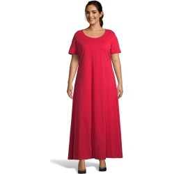 Just My Size Jersey Matchables Maxi Dress Fire Roasted Red 1X Women's found on Bargain Bro from JustMySize for USD $25.84
