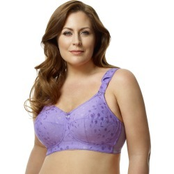 Elila Jacquard Soft-cup Bra Lilac 46M Women's found on Bargain Bro from JustMySize for USD $30.38