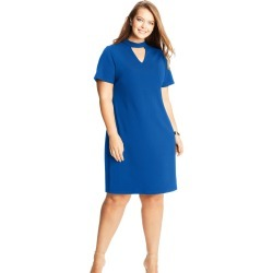 Just My Size JMS Keyhole Choker Dress Cobalt Crush 3XL Women's found on Bargain Bro from JustMySize for USD $12.90