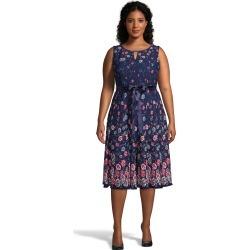 Just My Size Bar Neckline Sleeveless Polka Dot Dress Navy Garden 2X Women's found on Bargain Bro from JustMySize for USD $12.90