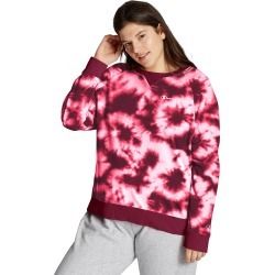 Champion Women's Athletics Plus Campus French Terry Tie-Dye Crew, Script Logo Cloud Burst Hush Pink 3X found on Bargain Bro from JustMySize for USD $22.79