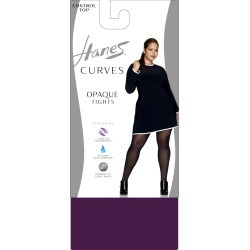 Hanes Curves Control Top Opaque Tights Blackberry Wine 1X/2X Women's found on Bargain Bro from JustMySize for USD $9.12