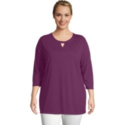 Just My Size JMS Lightweight Keyhole Tunic Plum Port 4X Women's found on Bargain Bro from JustMySize for USD $13.68