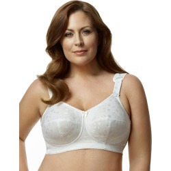 Elila Jacquard Soft-cup Bra White 40N Women's found on Bargain Bro from JustMySize for USD $30.38