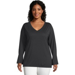 Just My Size JMS Lightweight Bell Sleeve Top Black 5X Women's found on Bargain Bro from JustMySize for USD $13.68