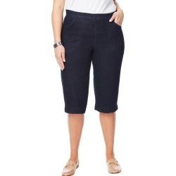 Just My Size JMS 2-Pocket Pull-On Capris Super Dark Denim 1X Women's found on Bargain Bro from JustMySize for USD $19.76