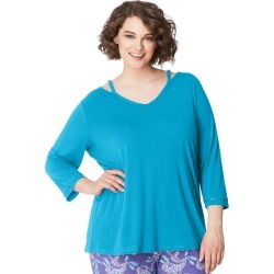 Just My Size JMS Cool Girl Sleep Top Cyan 1X found on Bargain Bro Philippines from JustMySize for $12.50