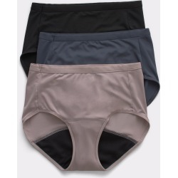 Hanes Fresh & Dry Leak Protection Liner Brief 3-Pack Assorted 9 Women's found on Bargain Bro from JustMySize for USD $11.40