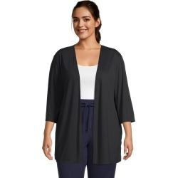 Just My Size JMS Lightweight Open Cardigan Black 1X Women's found on Bargain Bro from JustMySize for USD $12.16