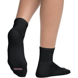 Hanes Women's ComfortBlend Ankle Socks 6-Pack Black 9-11 found on Bargain Bro Philippines from JustMySize for $8.99