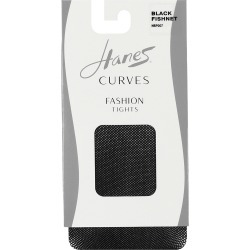 Hanes Curves Fishnet Tights Black 1X/2X Women's found on Bargain Bro from JustMySize for USD $3.79