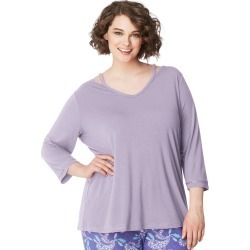 Just My Size JMS Cool Girl Sleep Top Lavender 1X found on Bargain Bro India from JustMySize for $12.50