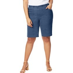 Just My Size JMS 4-Pocket Bermuda Shorts Medium Stone Denim 1X Women's found on Bargain Bro Philippines from JustMySize for $22.00