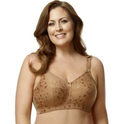 Elila Jacquard Soft-cup Bra Mocha 52M Women's found on Bargain Bro from JustMySize for USD $30.38
