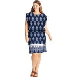 Just My Size JMS Blouson Dress Navy Print 4XL Women's found on Bargain Bro Philippines from JustMySize for $14.98