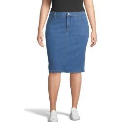 Just My Size JMS 5-Pocket Skirt with Back Elastic Medium Stonewash Denim 5X Women's found on Bargain Bro from JustMySize for USD $11.38
