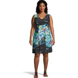 Just My Size Floral V-Neck Tank Dress Blue 3X Women's found on Bargain Bro from JustMySize for USD $12.90