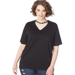 Just My Size JMS Pearl Choker Tee Black 1X Women's found on Bargain Bro Philippines from JustMySize for $14.98