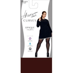Hanes Curves Control Top Opaque Tights Deep Mahogany 3X/4X Women's found on Bargain Bro from JustMySize for USD $9.12