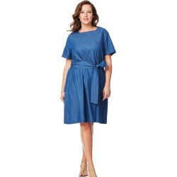 Just My Size Chambray Square Neck Dress 1X Women's found on Bargain Bro from JustMySize for USD $15.18