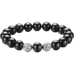 The Mister Twin Lion Plus Bead Bracelet - Chrome