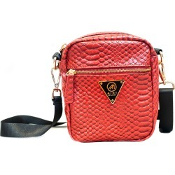 Mint Python Camera Bag Red
